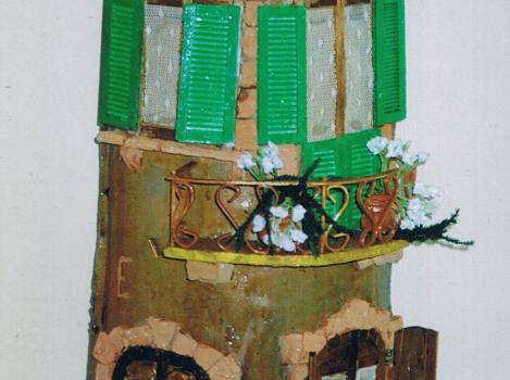 Tegola in rilievo ,facciata rustica