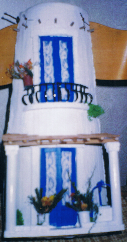 Tegola in rilievo, facciata tipica isole eolie
