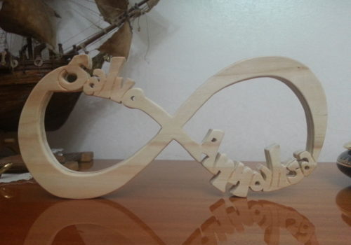 Scritta personalizzata in legno