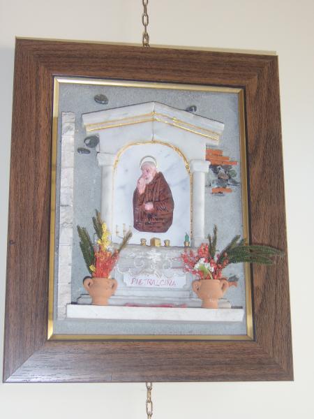 quadro in rilievo, Padre Pio