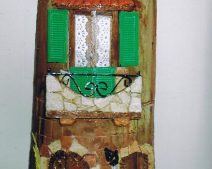 Tegola in rilievo, facciata rustica