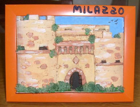 Quadro in rilievo castello di Milazzo