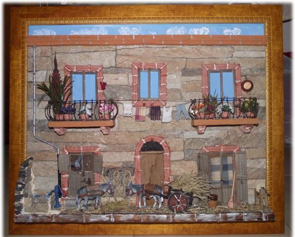 Quadro in Rilievo. Facciata in pietra con Asinelli-Artisticando.com