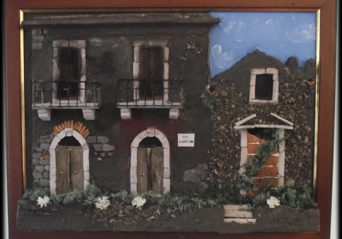 Quadro in rilievo,facciata antica