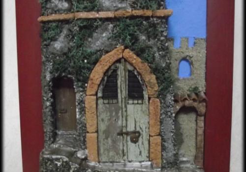Quadro in rilievo, ingresso Castello