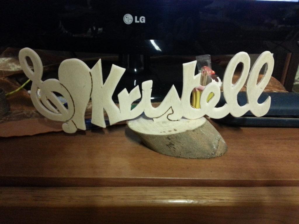 Scritta legno personalizzata