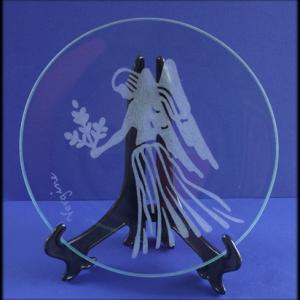 Incisione su vetro di un segno zodiacale, Vergine