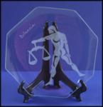 Incisione su vetro di un segno zodiacale, Bilancia