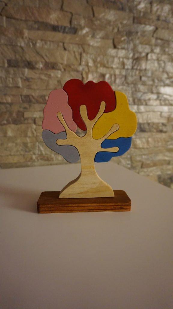 Albero della Vita in Legno, con Incastro Multicolore