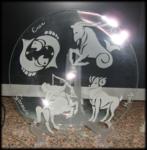Incisione su vetro segni dello zodiaco