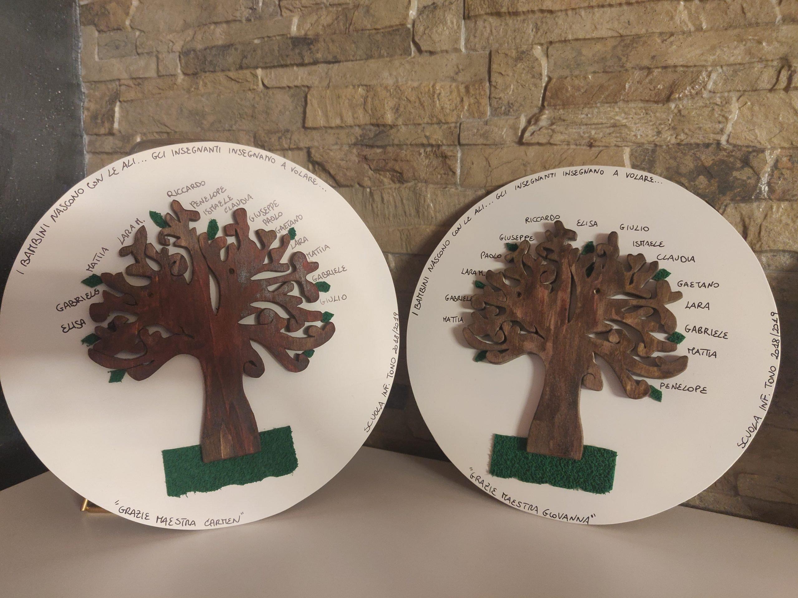 Lavoretti In Legno Per Natale albero della vita su piatto legno - artisticando-quadri