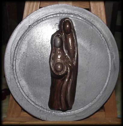 Natività Stilizzata in Ceramica.
