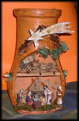 Presepe in Vaso di Terracotta