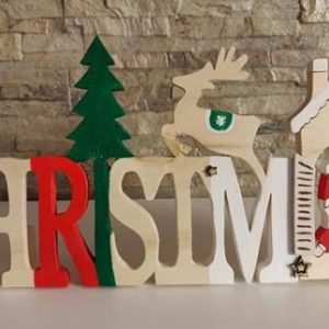 Scritta Christmas in Legno