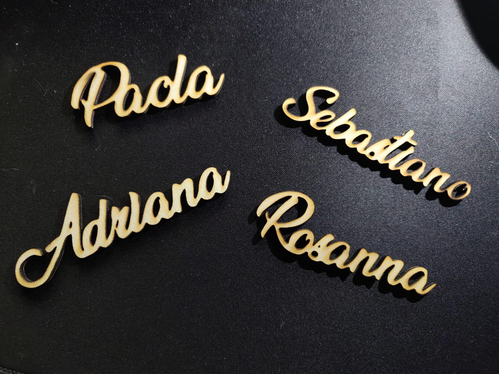 scritte personalizzate in legno