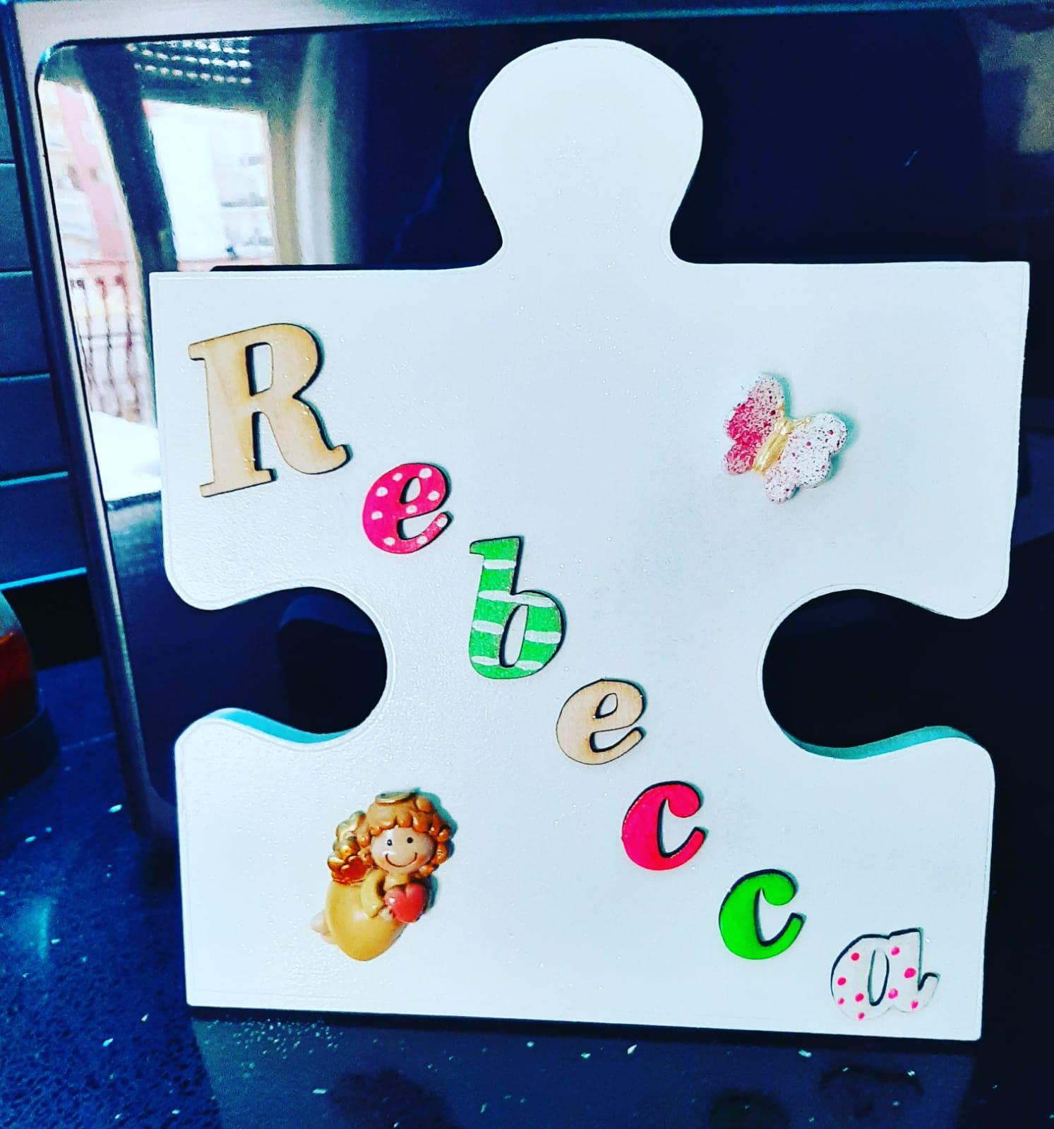 tessera puzzle gigante in legno personalizzato
