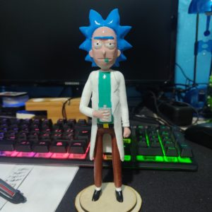 rick e morty, personaggio in 3d