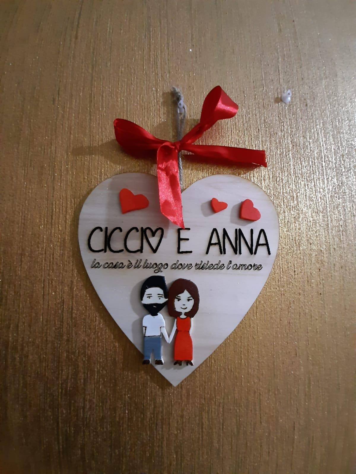 Cuore personalizzato idea regalo San Valentino