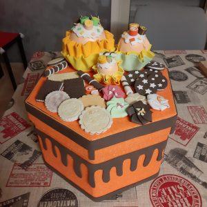 torta contenitore gomma eva