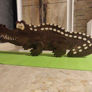 coccodrillo in legno