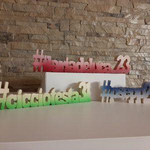 Scritte In Legno - Nome In Legno Personalizzato con Hashtag