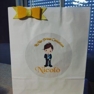 sacchetto personalizzato per comunione
